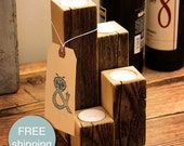 Reclaimed Wood Candle Holder, Old Growth Spruce