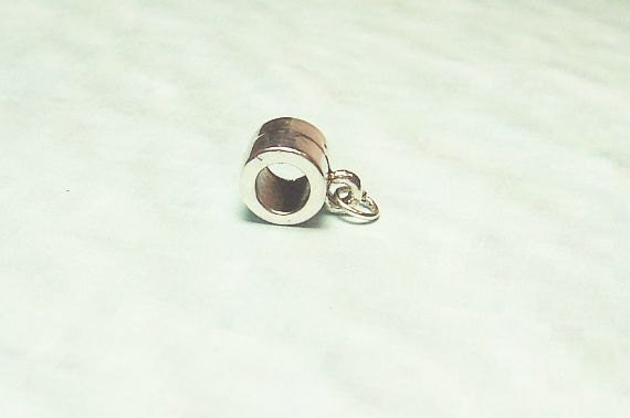 Charm Holder Silver Charm Hole is 5mm Charm Holder for Charm Bracelets or Necklaces Add a Bead Pandora Biagi Chamilia