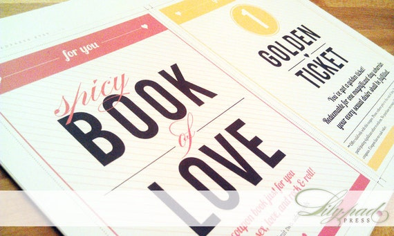 Adult Love Coupon Book For Him