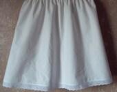 White Cotton Muslin Custom Womens Half Slip