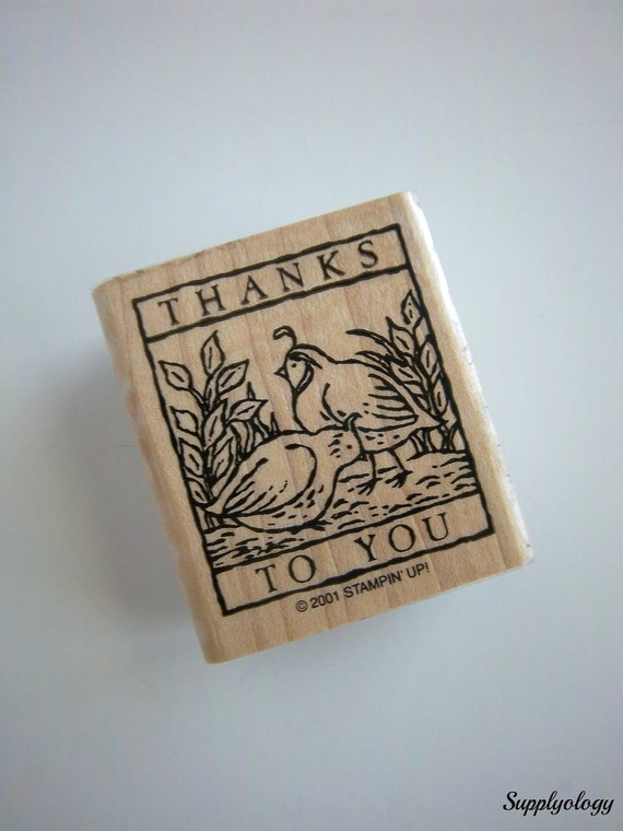 Stampin Up Wood RUBBER STAMP Thanks To You Bird