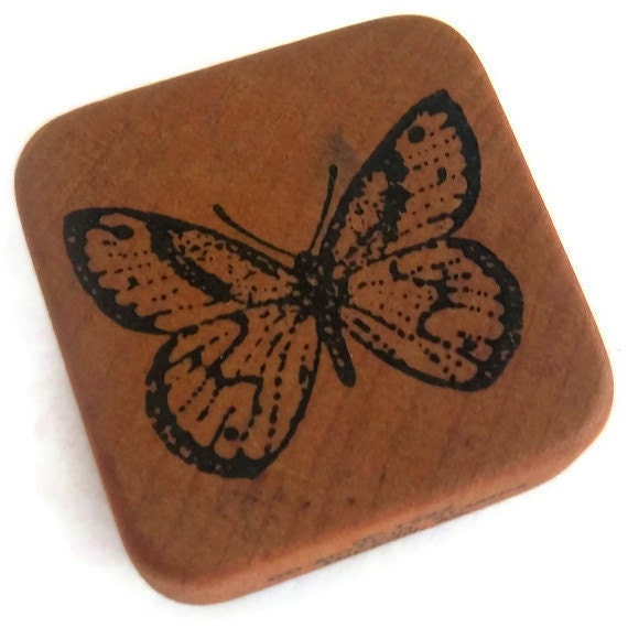 Co-Motion RUBBER STAMP Butterfly 1982 Vintage