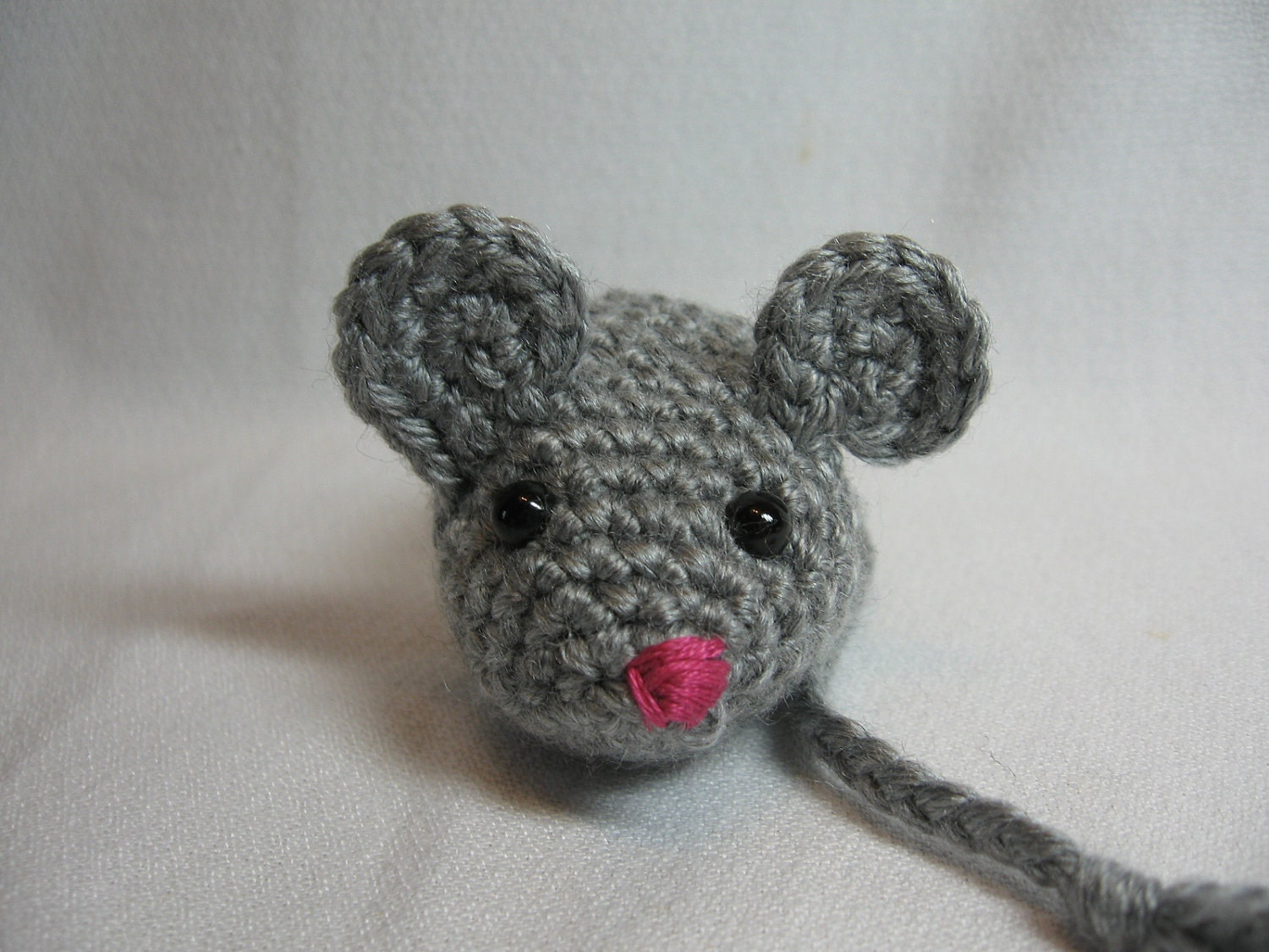 Cat toy crochet mouse catnip filled grey mouse for How to crochet cat toys