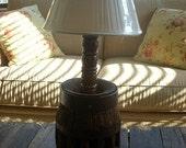 SALE-SALE-SALE-Vintage antique wagon wheel lamp