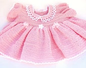 Heirloom Outfit : Preemie DRESS and BOOTIES for Baby's First Photo or Baby Take Home Outfit