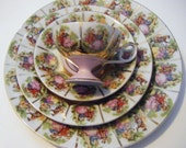 Reserved for Jamie Antique Royal Vienna Four Piece Place Setting with Beautiful Pastoral/Portrait Scenes