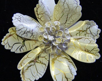 1960's Vintage Enameled Floral Pin or Brooch