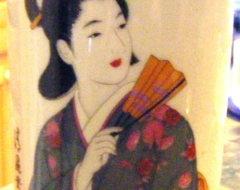 Japanese Geisha Girl Vase