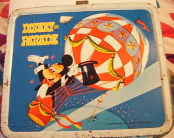 1970's Disney on Parade Metal Lunchbox Aladdin Industries Vintage