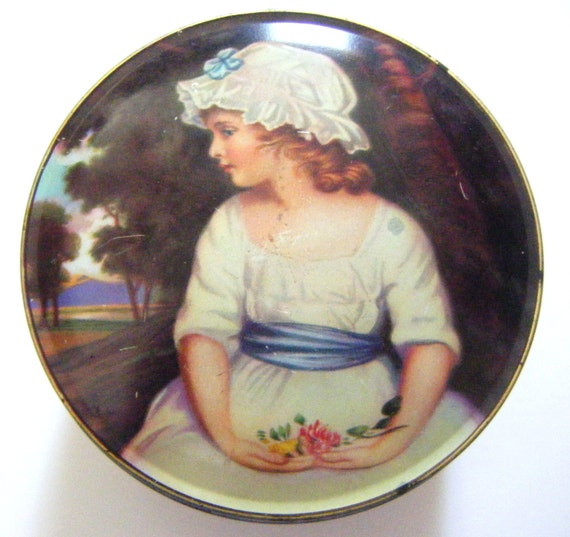 Vintage Thornes Premier Toffee Tin Made In England Simplicity Sir Joshua Renolds 1st PRA