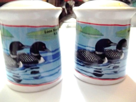 Loons On Lake Salt And Pepper Shakers Beautiful Nh Birds On