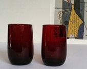 Royal Ruby Juice Glasses