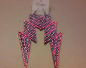 BasketBall Wives Poparazzi Pink/Blue Earrings