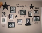 Family Wall Quotes and Collage Wall Vinyl