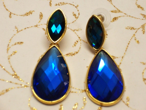 Vintage Earrings Joan Rivers Jewelry Emerald By Timelezvintage
