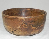 Hand Turned Ambrosia Maple Wood Bowl