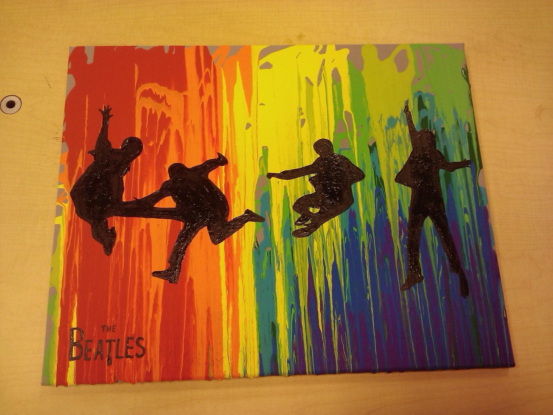 Rainbow Beatles Original Pop Art Painting