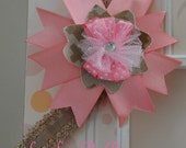 USMC desert digital camo and pink headband for newborn, infant or toddler