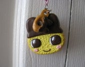 Cute Tamogotchi Necklace with Donut Charm