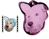 Personalized Pet ID Tag / Key Chain (Made from the photo you send)