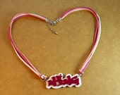 Personalized Name Necklace - White Base(Made To Order)