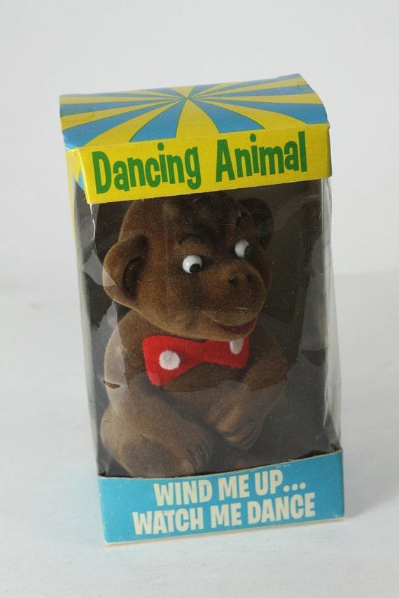 Knickbocker Dancing Monkey Wind Up Toy Original Box Retro