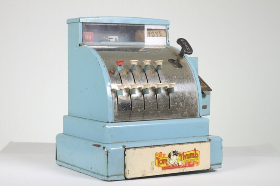 Retro Blue Tom Thumb Cash Register