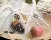 Handfasting and Wiccan wedding Swarovski crystal acorn favors