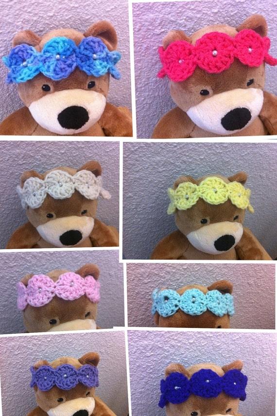 crochet bead headbands