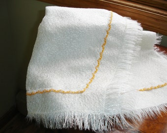 Vintage Tablecover with Fringe Edging circa 1960s Retro