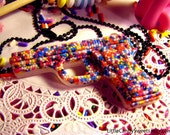 Sprinkle Glitter Gun Necklace made with real candy sprinkles