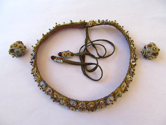 Leni Kuborn Grothe Necklace and Earring Set Very Rare