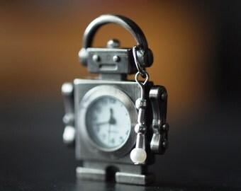 Robot key chain/pocket watch