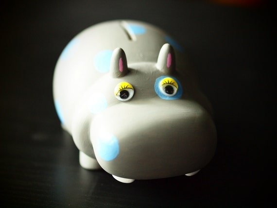 Hippo bank (spotted)