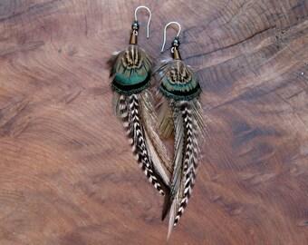 Earthy Feather Earring