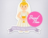 English First Holy Communion Printables - Blonde Little girl