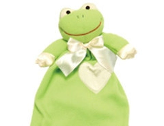 Baby Blanket Custom Embroidered Monogramed Soft Plush Adorable Frog