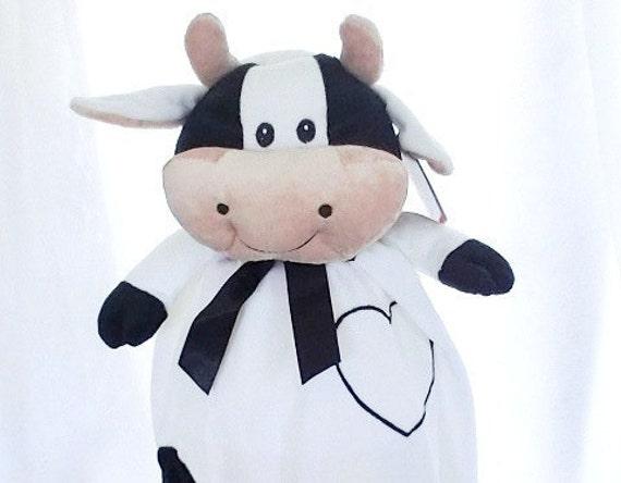 Adorable Cow Blankey Soft, Plush Stuffed Animal Custom Embroidered Monogramed