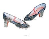 The high shoes (For America Day). Limited edition print by Julie Lequin.