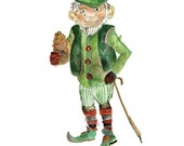 Leprechaun. Limited edition of 5 -print by Julie Lequin