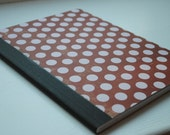 Red and Pink Polka Dots Full Sized, Altered Composition Notebook