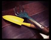 Vintage Garden Tools - Wood and Metal