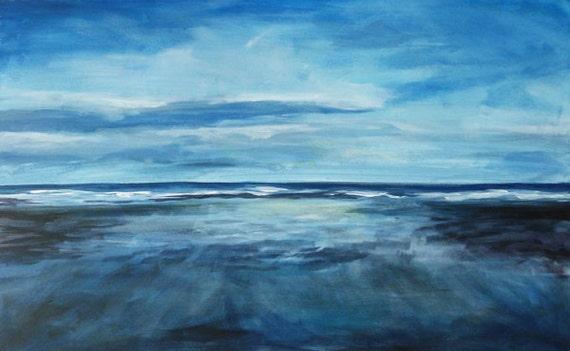 Coldingham Bay by Kenny Bayne - Acrylic on Canvas, 80cm x 50cm