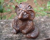 Vintage silly clay pottery raccoon