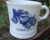 Reserved for Manny-Milk glass shaving mug by Surrey-1903 Cadillac picture