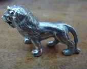 Miniature vintage metal Lion