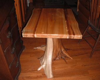 Cedar Stump End Table