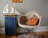 RESERVED Sale Eames for Herman Miller Fiberglass Arm Chair Ochre Light DAR - Original Eiffel Base 2nd Generation Zenith Production