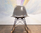RESERVE LISTING for J. Eames for Herman Miller Gray Fiberglass Side Shell Rocker - Please do not purchase