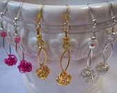 Wired Wrapped Bird Nest  Dropped Earrings
